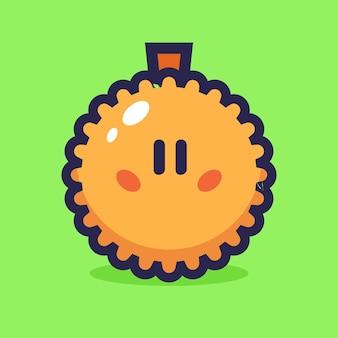 Ilustracja wektorowa kreskówka durian
