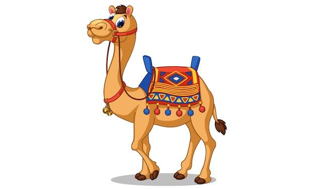 Ilustracja wektorowa kreskówka piękny wielbłąd