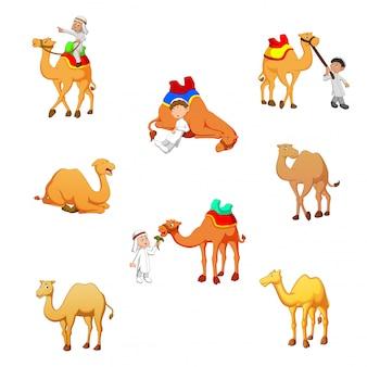 Ilustracja wektorowa kreskówka wielbłąda