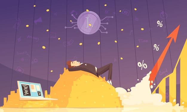 Ilustracja wektorowa kryptowaluty