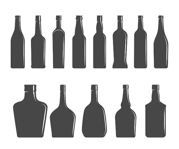 Ilustracja wektorowa kształty butelek