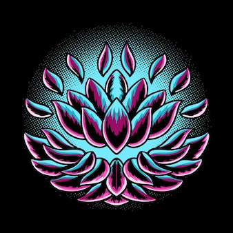 Ilustracja wektorowa kwiat lotosu