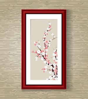 Ilustracja wektorowa kwiat sakura japonii