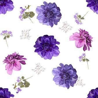 Ilustracja wektorowa kwiatowy piękne tło