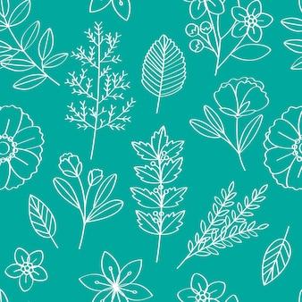 Ilustracja wektorowa kwiatowy wzór