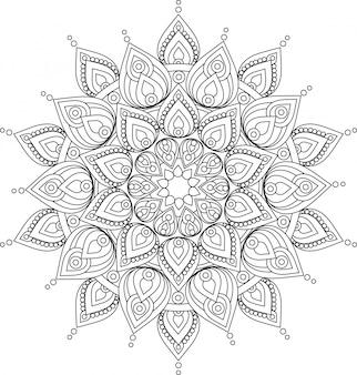 Ilustracja wektorowa kwiecisty mandali