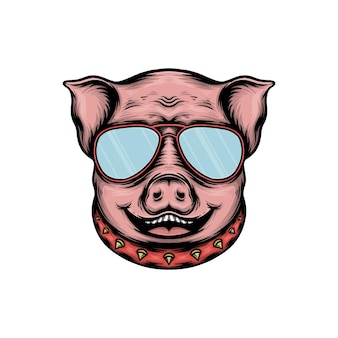 Ilustracja wektorowa ładny głowa świni