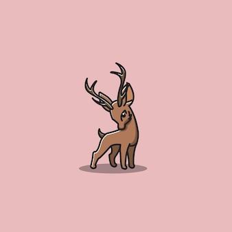 Ilustracja wektorowa ładny jeleń