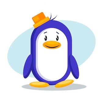 Ilustracja wektorowa ładny pingwina