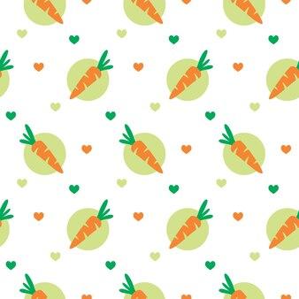 Ilustracja wektorowa ładny wzór miłości marchewki