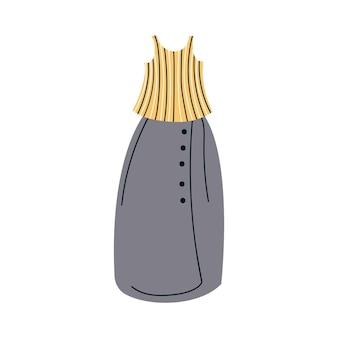 Ilustracja wektorowa letniej sukienki kobiet