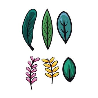 Ilustracja wektorowa liść