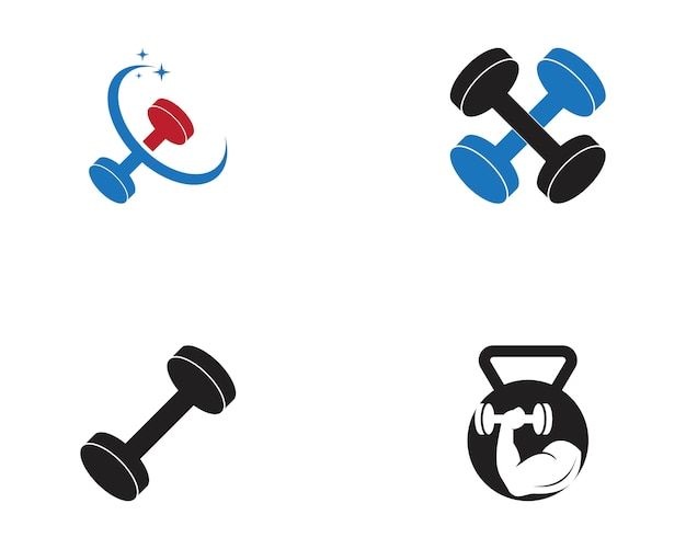 Ilustracja wektorowa logo fitness sport siłownia