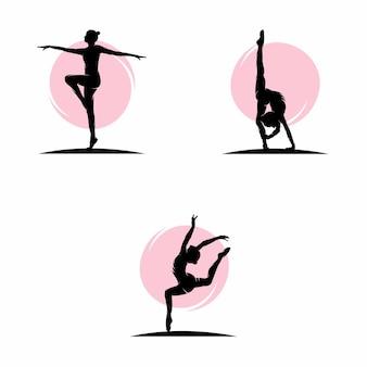 Ilustracja wektorowa logo gimnastyczne