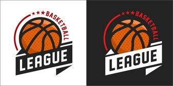 Ilustracja wektorowa logo koszykówki