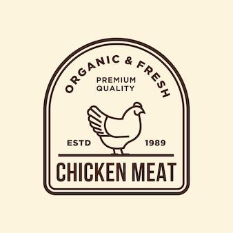 Ilustracja wektorowa logo kurczaka