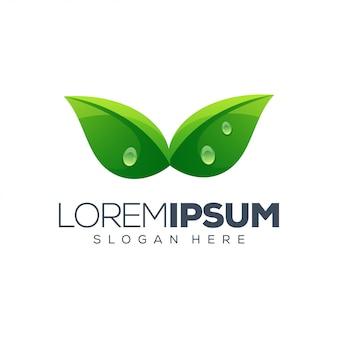Ilustracja wektorowa logo liść