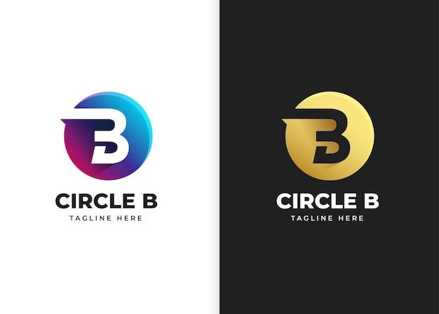 Ilustracja wektorowa logo litery b z kształtem koła