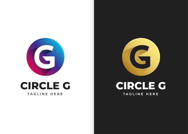 Ilustracja wektorowa logo litery g z kształtem koła