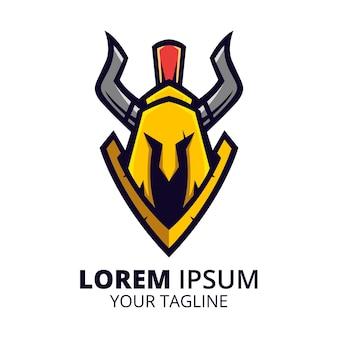 Ilustracja wektorowa logo maskotka strażnika