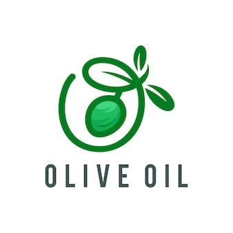 Ilustracja wektorowa logo oliwy z oliwek