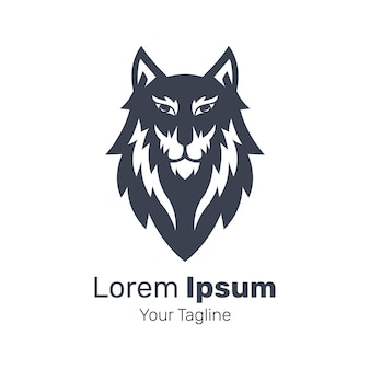 Ilustracja wektorowa logo psa husky