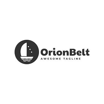 Ilustracja wektorowa logo styl orion pasa sylwetka