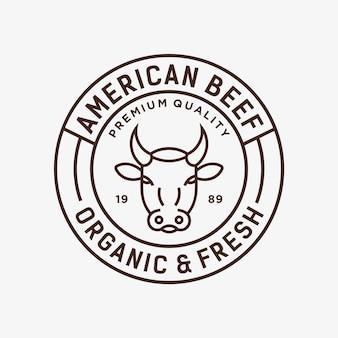Ilustracja wektorowa logo wołowiny