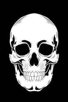 Ilustracja wektorowa ludzkiej czaszki