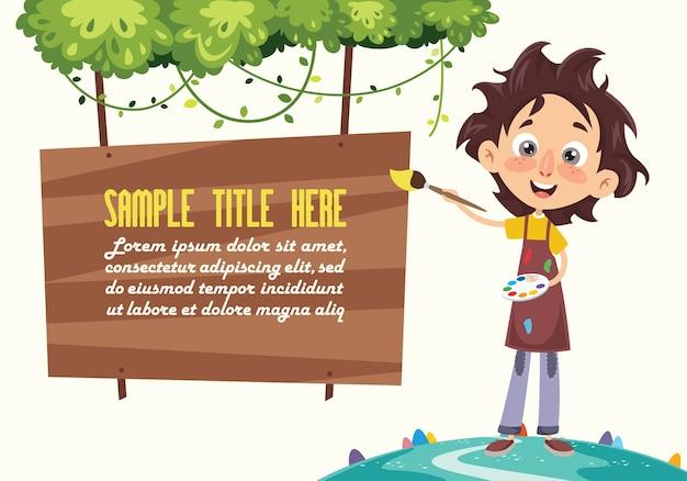 Ilustracja wektorowa malarstwa dla dzieci