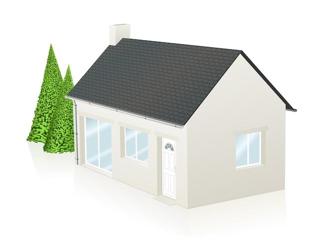 Ilustracja wektorowa małego współczesnego domu