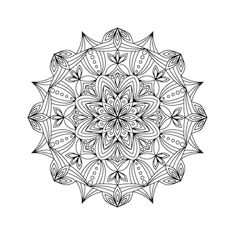 Ilustracja wektorowa mandali konspektu