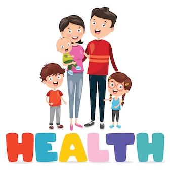 Ilustracja wektorowa medycyna i opieka zdrowotna