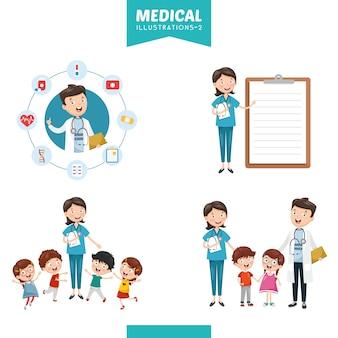 Ilustracja wektorowa medycznych
