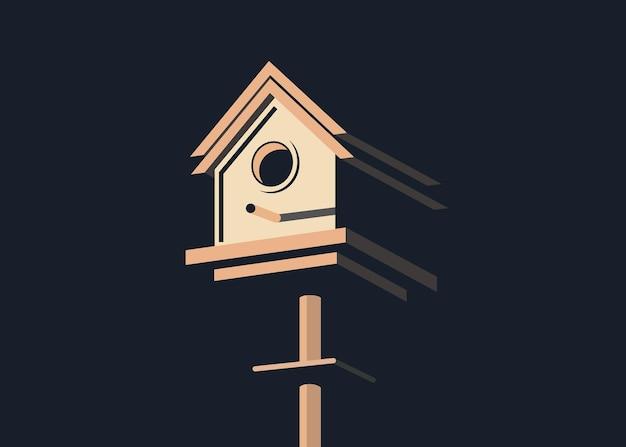 Ilustracja wektorowa minimalistycznej i nowoczesnej klatki dla ptaków