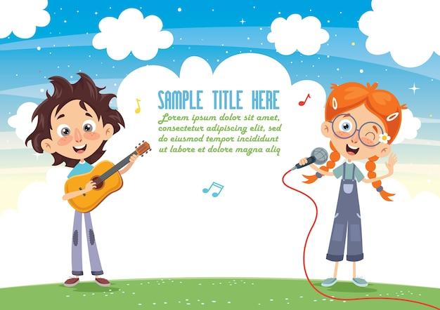 Ilustracja wektorowa muzyki dla dzieci