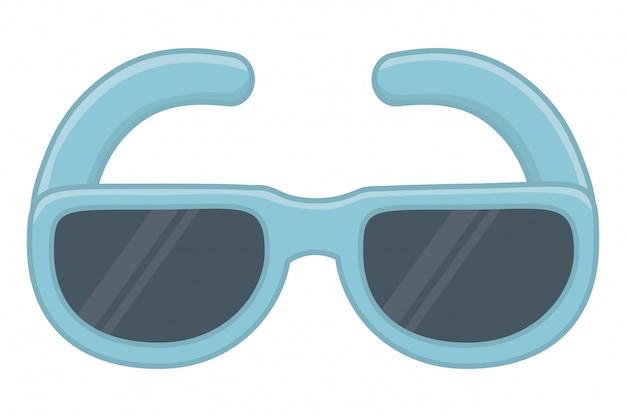 Ilustracja wektorowa na białym tle okulary