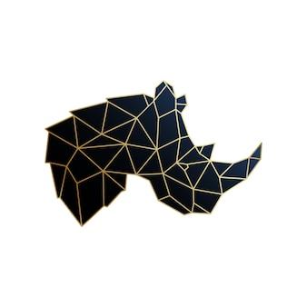 Ilustracja wektorowa nosorożec geometryczny