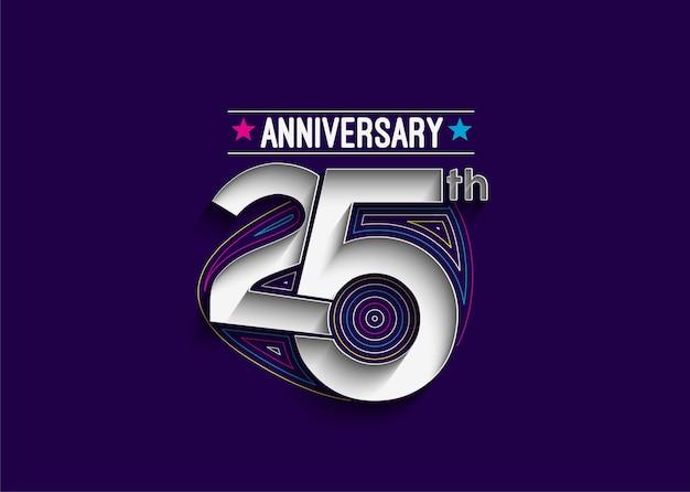 Ilustracja wektorowa obchody 25-lecia rocznicy