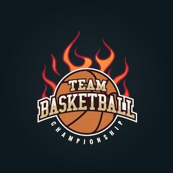 Ilustracja wektorowa odznaka koszykówki nowoczesny