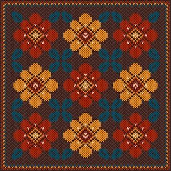 Ilustracja wektorowa ornament ludowy wzór. etniczny ornament