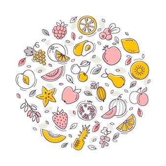 Ilustracja wektorowa owoców.