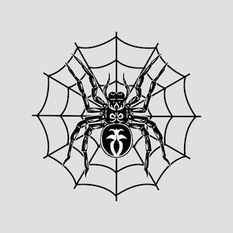 Ilustracja wektorowa pająka szczegółowe i edytowalne