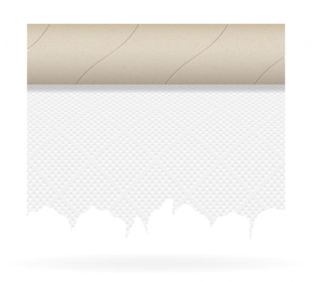 Ilustracja wektorowa papieru toaletowego kawałek