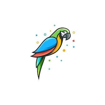 Ilustracja wektorowa papuga szablon