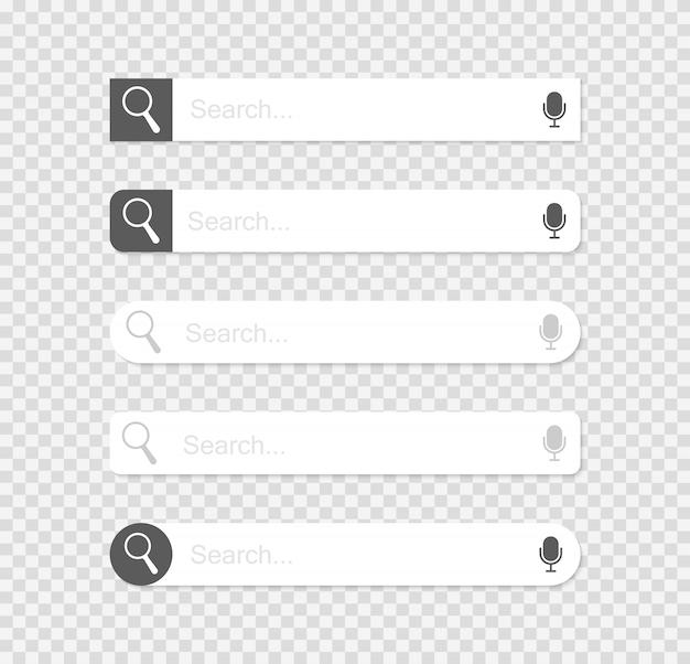 Ilustracja wektorowa paski wyszukiwania w sieci web