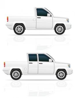 Ilustracja wektorowa pick-up samochodu