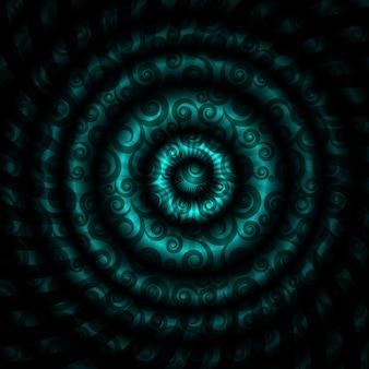 Ilustracja wektorowa pięknego abstrakcyjnego tła hipnotycznego
