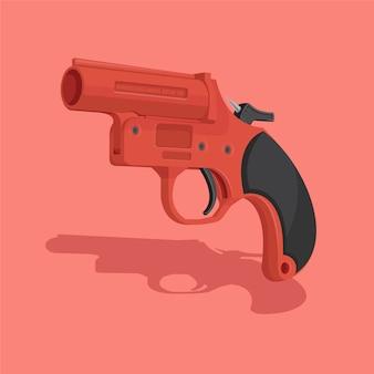 Ilustracja wektorowa pistolet flary