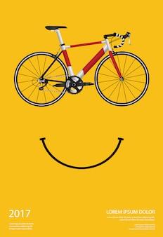 Ilustracja wektorowa plakat na rowerze